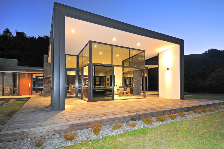 modern house located in Wellington, New Zealand
