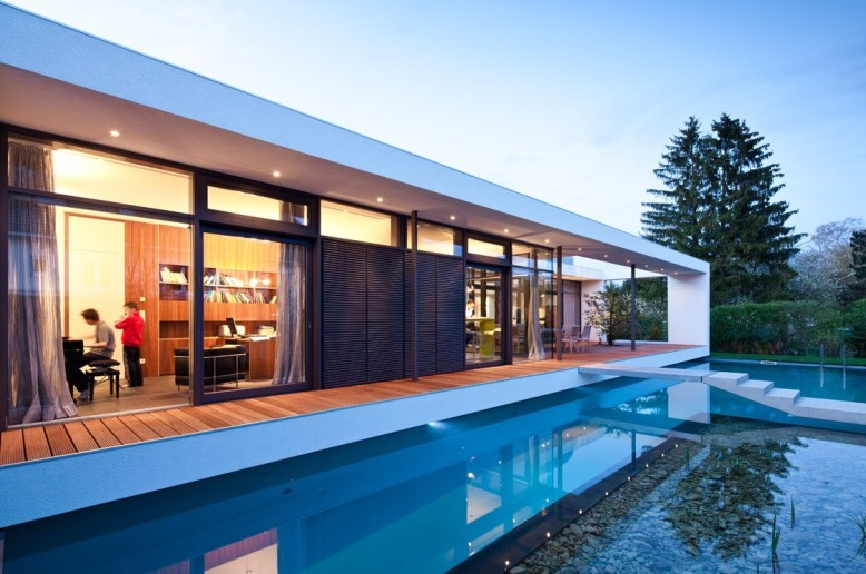 modern home is located in Karlsruhe, Germany.