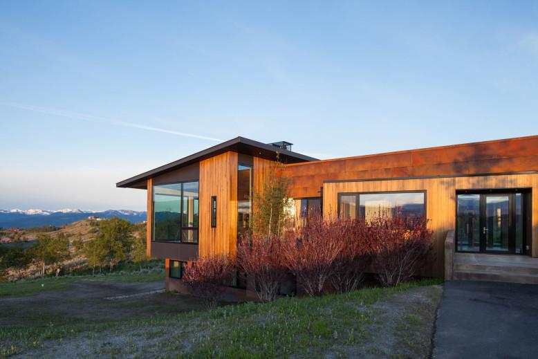 Modern house with beautiful views