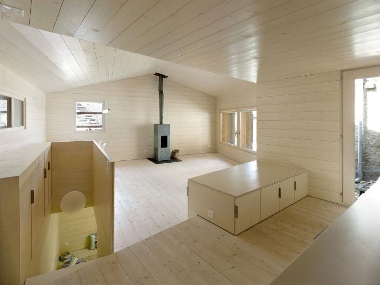 dark wooden house