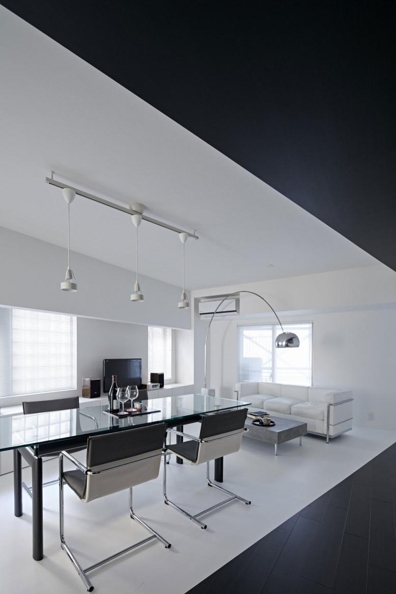 black & white interior by PANDA