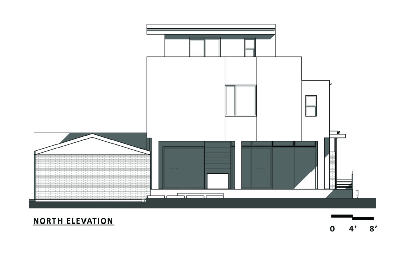 a renovation and addition to an existing brick bungalo