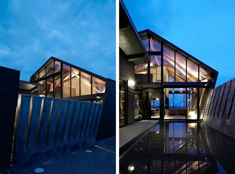 modern house in Chiba, Japan.
