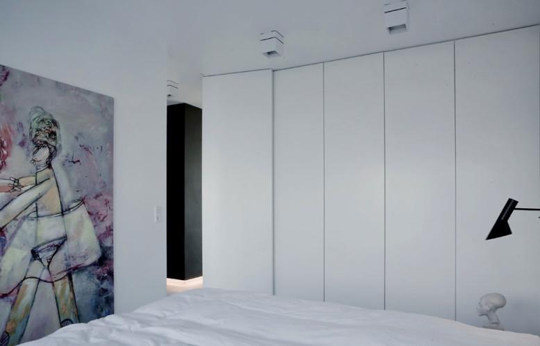 modern black & white interior