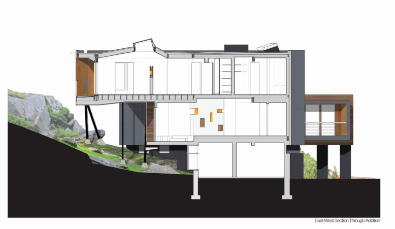 Modern house extended and renovated