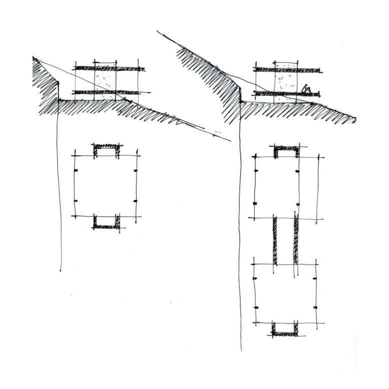 Transparent steel and glass pavilion