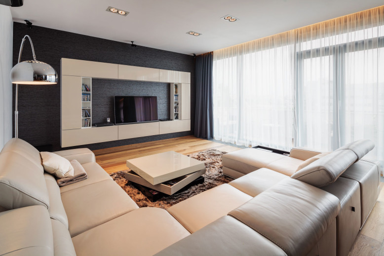 Two storey penthouse apartment