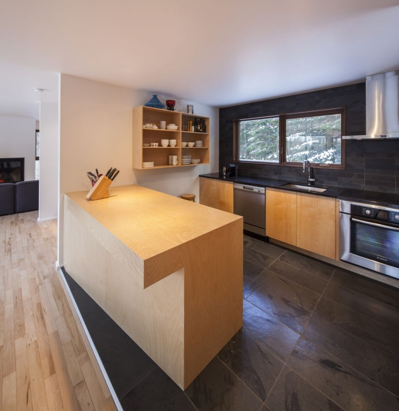 A renovation of an existing house