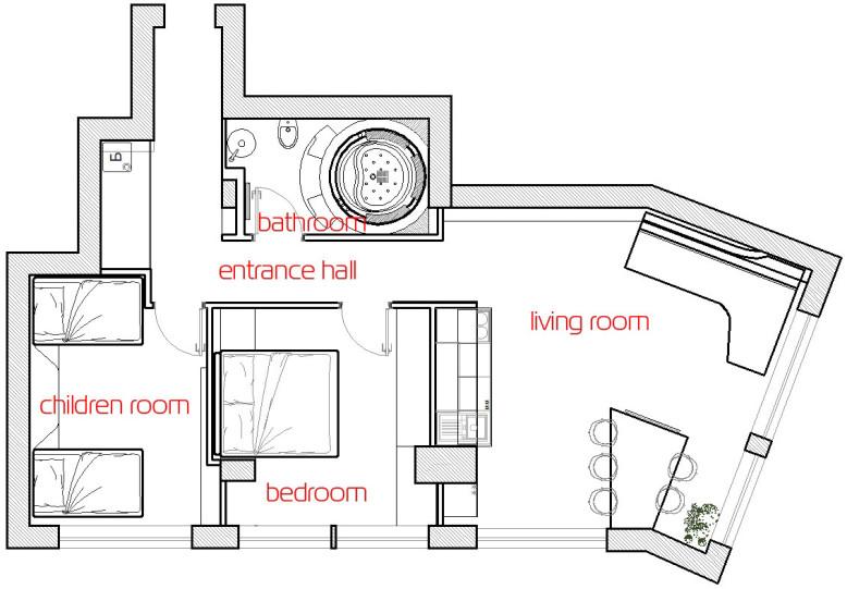 apartment by Bozhinovski Design