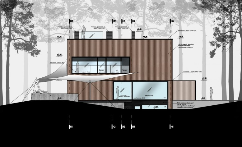Modern three storey residence