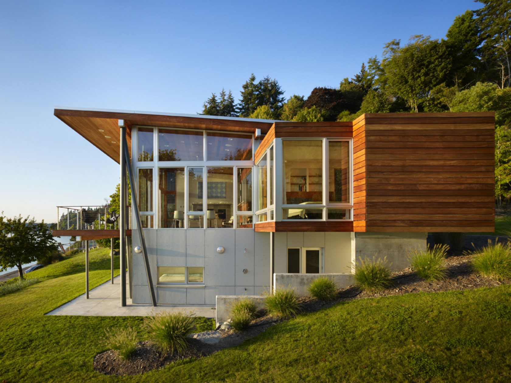 Vashon cabin by vandeventer carlander architects homedezen for Beach house designs usa