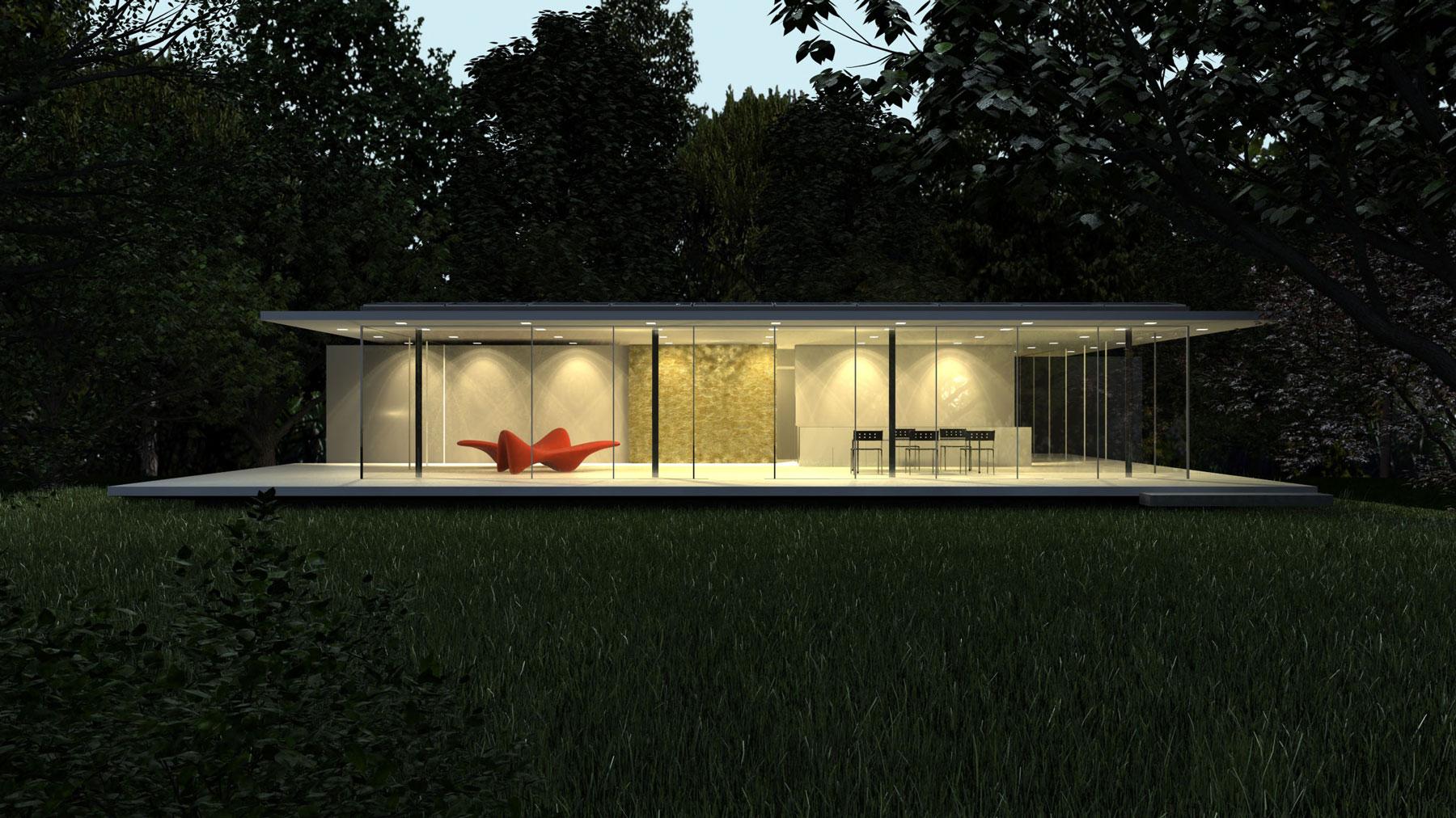 haus d10 by werner sobek homedezen. Black Bedroom Furniture Sets. Home Design Ideas