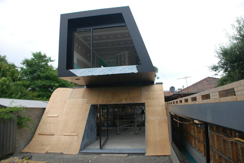 Modern extension to an existing small house
