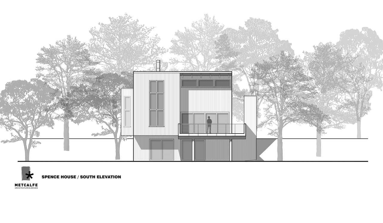 Architecture Design Front Elevation : Spence house by metcalfe architecture design homedezen