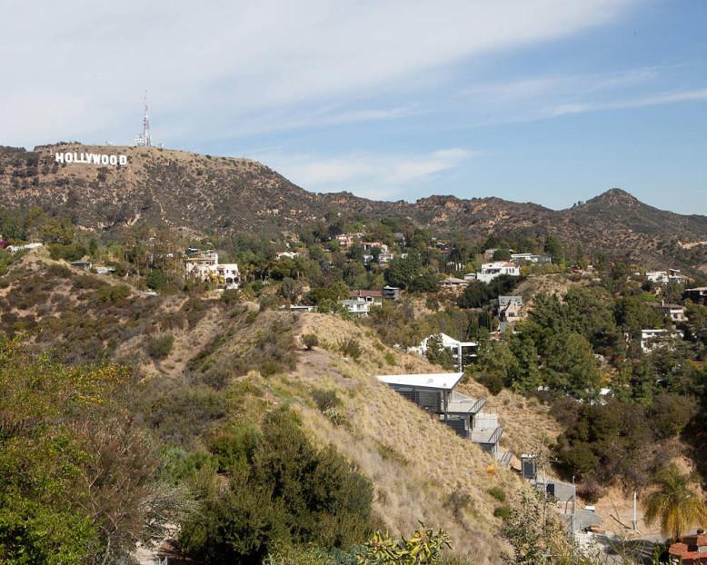 Private residence with panoramic views of the Hollywood Hills