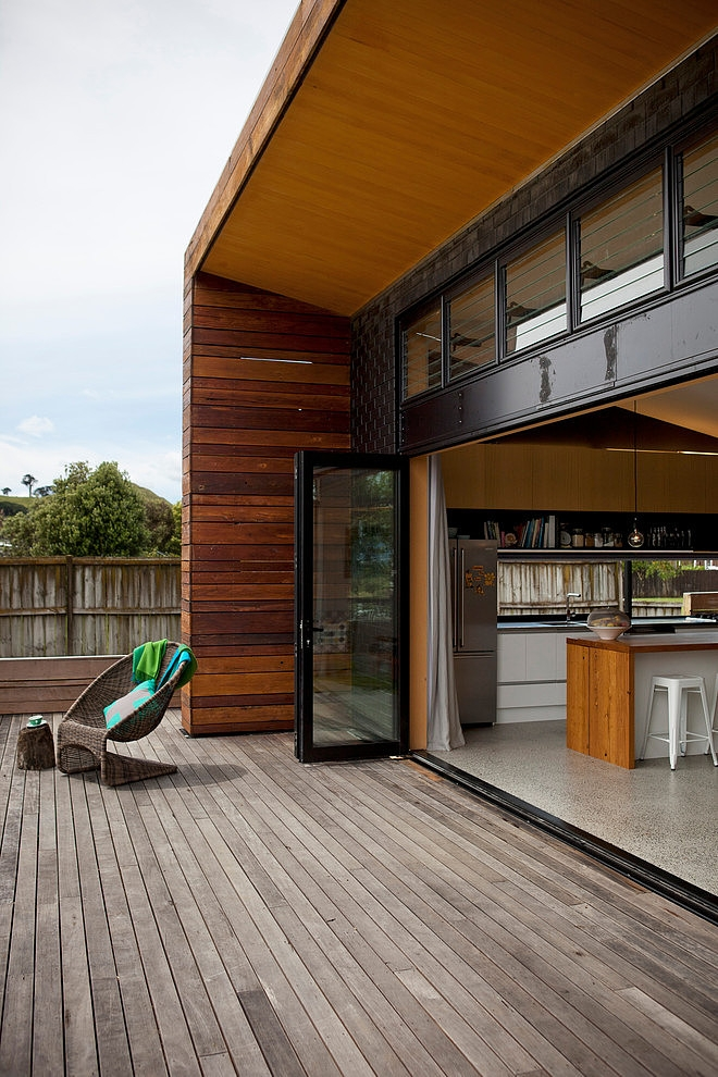 Modern wooden house in New Zealand