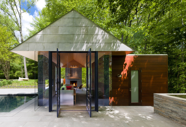 Nevis Pool and Garden Pavilion by Robert Gurney Architect