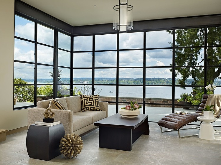 Modern Home on Lake Washington, Seattle