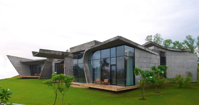 Concrete house in India