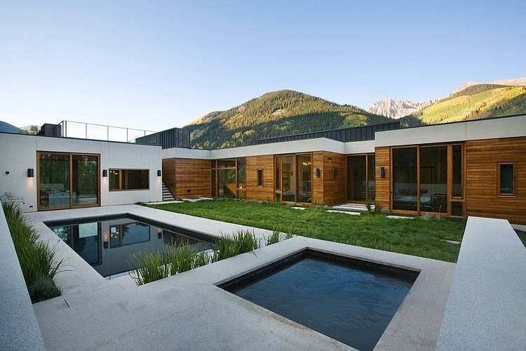 Modern residence with stunning alpine views