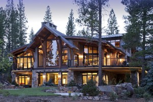 Beautiful wooden residence in Truckee, California