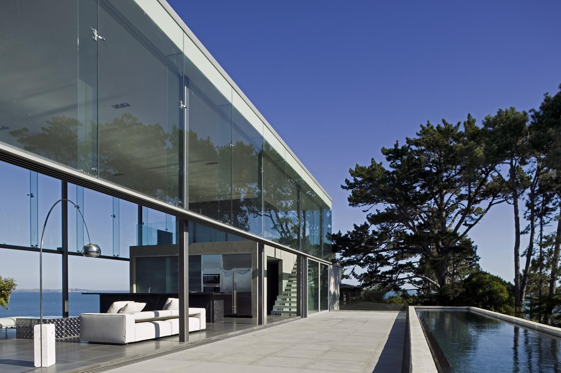 Arabic Architecture Houses Stylish glass house wi...