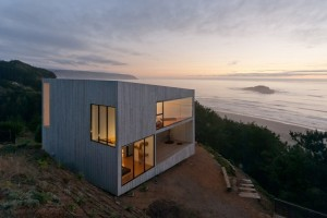 Minimalist two-storey house with panoramic views in Chile