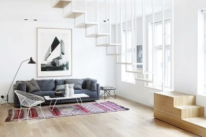Modern loft apartment in Oslo by Haptic Architects