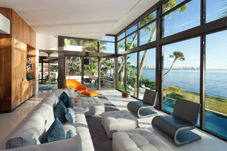 Stylish residence with beautiful views in Miami, Florida