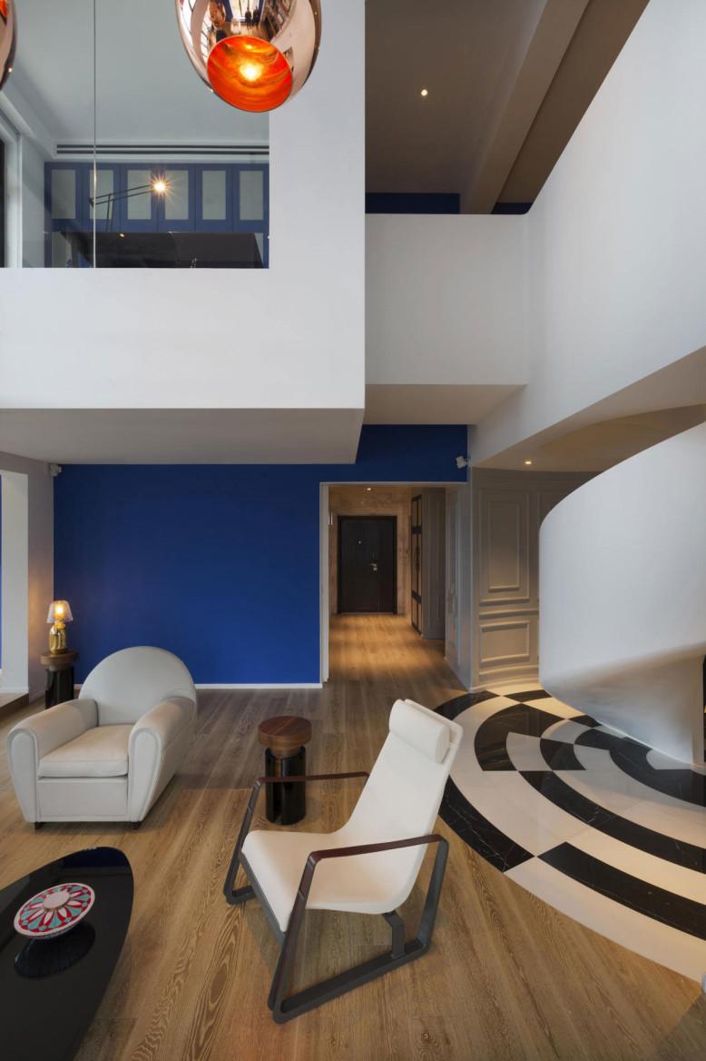 Penthouse in Shanghai by Dariel Studio