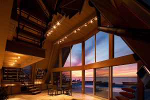 A-frame House on Fire Island by Bromley Caldari