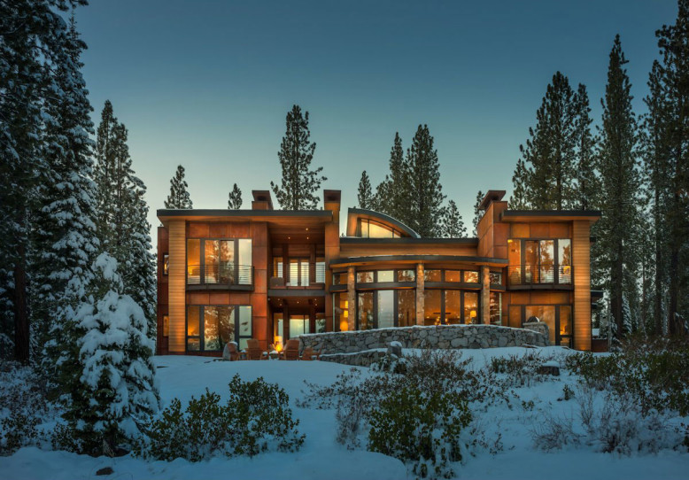 Modern Residence in Martis Camp by Swaback Partners