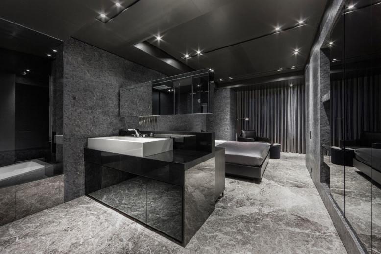 Dark Interior House in Taipei