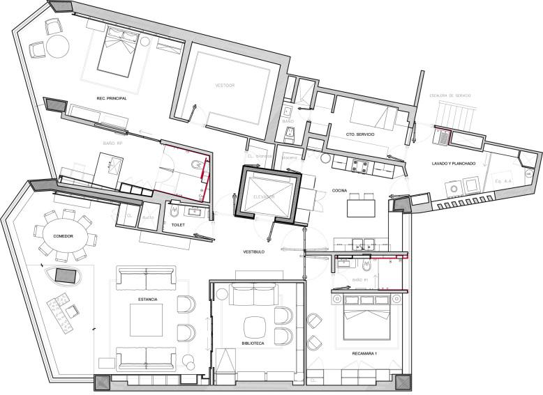 Departamento Polanco by López Duplan Arquitectos