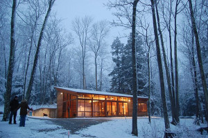 Modest Wooden Cabin by Maryann Thompson Architects