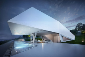 Stunning holiday home with futuristic design in Greece: Villa F