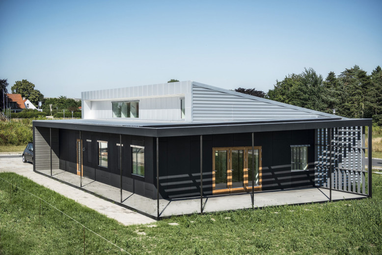 Prefabricated Shipping container house in Denmark