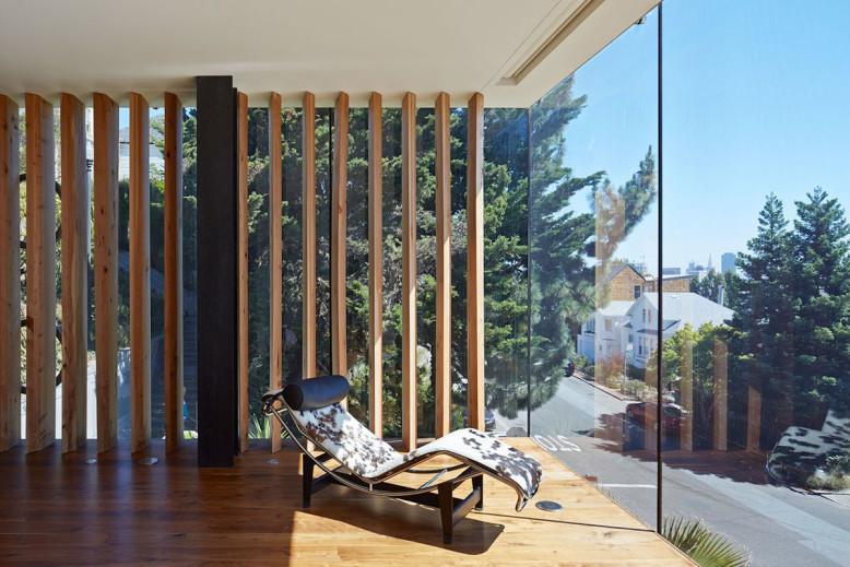 Three storey glass tower house