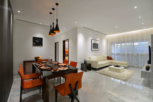 Stylish residential apartment by GA design
