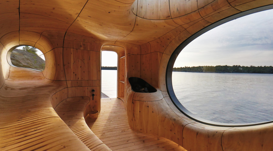 Grotto Sauna by Studio Partisans