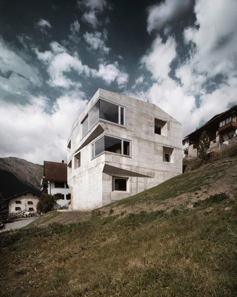 Concrete Holiday House in Switzerland
