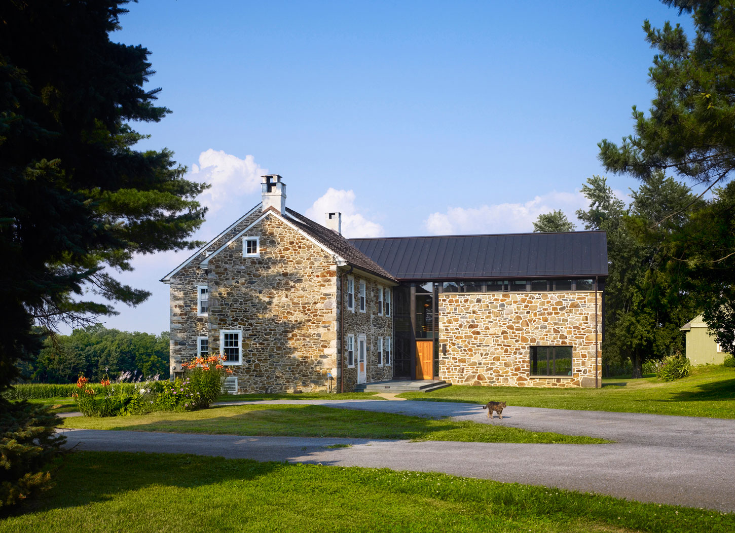 Stone farmhouse addition and renovation by wyant for Farmhouse architecture