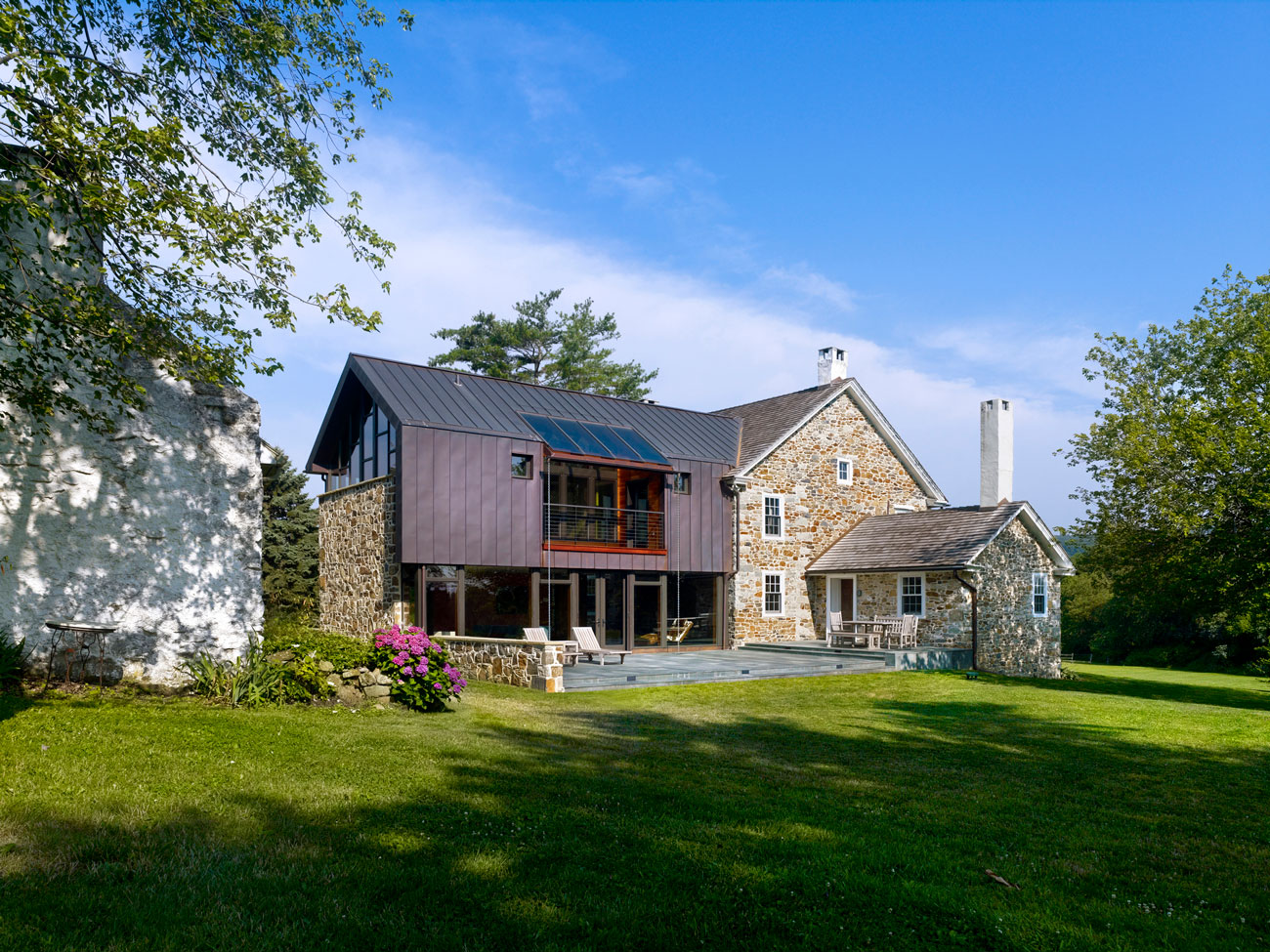 Stone farmhouse addition and renovation by wyant Architectural designs farmhouse
