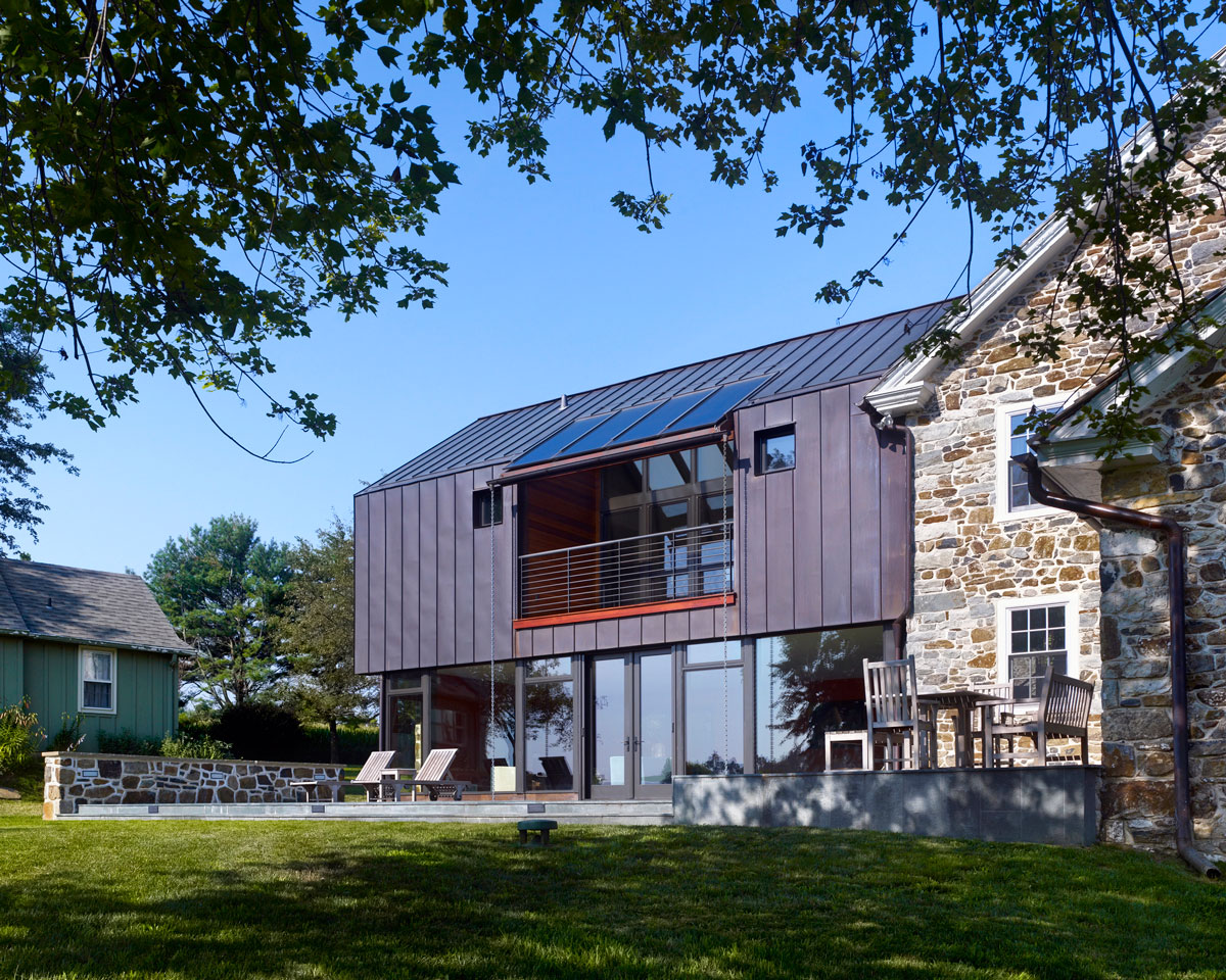 Stone farmhouse addition and renovation by wyant for Modern house additions