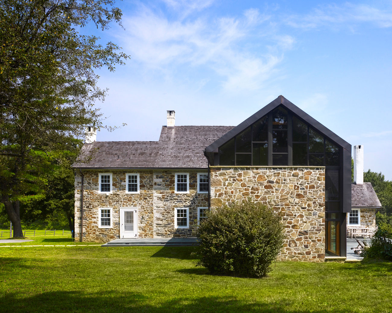 Stone farmhouse addition and renovation by wyant for Farmhouse architects