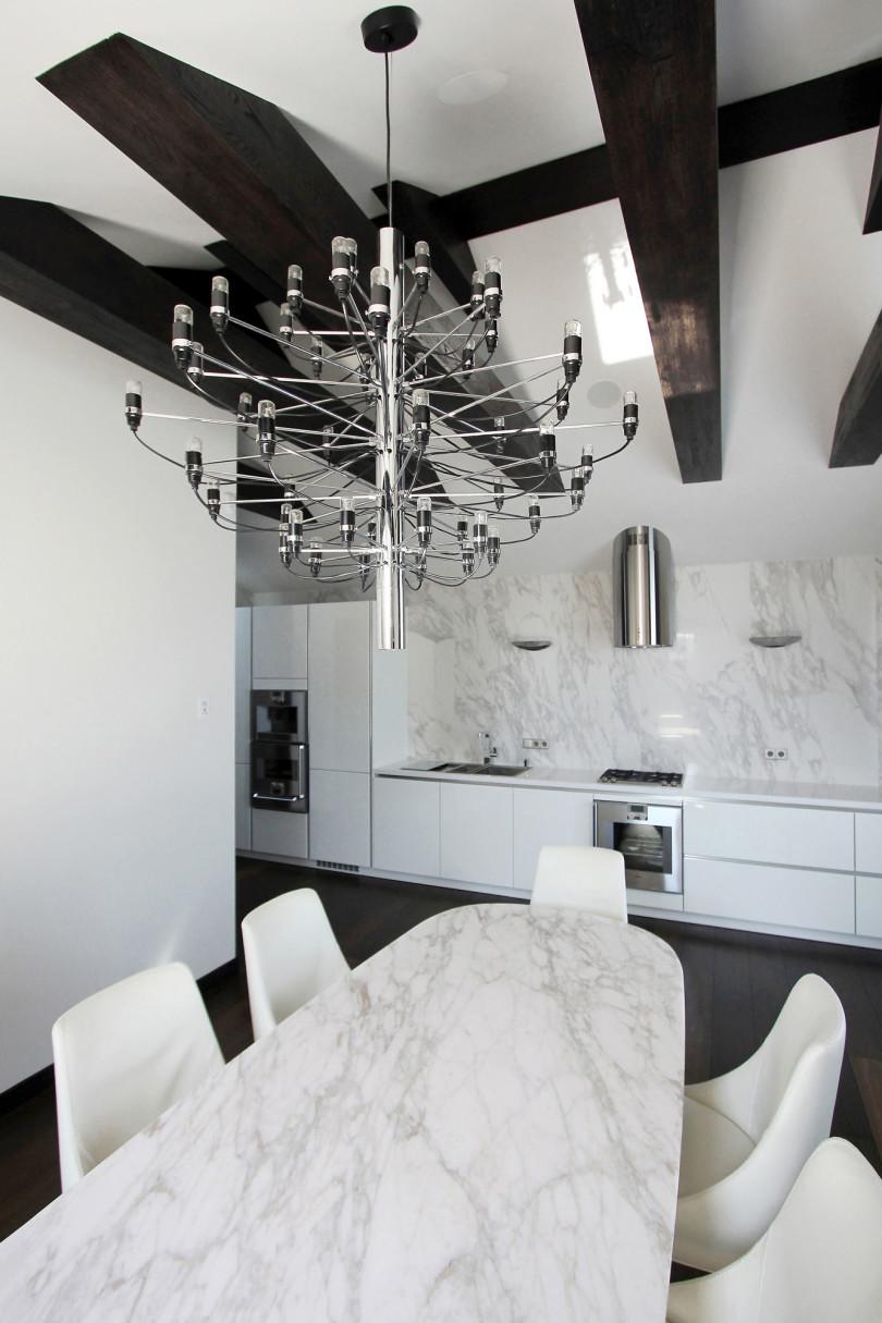 Modern Minimalist Penthouse By Ramunas Manikas Homedezen