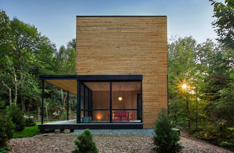Wooden Residence by Thellend Fortin Architectes-06