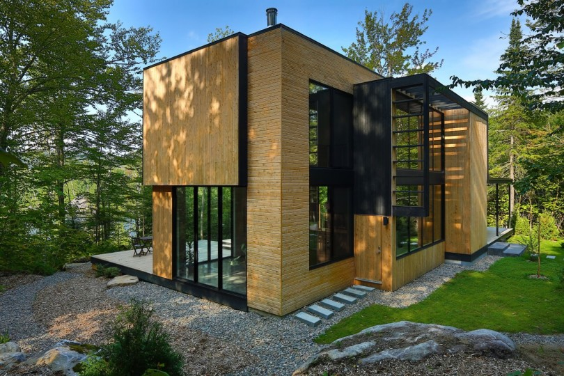 Wooden Residence by Thellend Fortin Architectes-07
