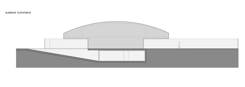 Elegant elliptical shape family house in Spain