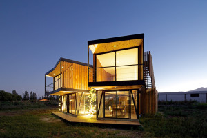 Sustainable house builded with 100% recycled materials: G House